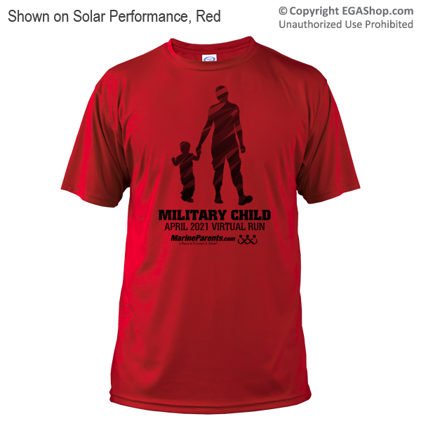 Virtual Run Military Child Run Tshirt